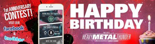 Heavy Metal Thunder Sci-Fi Gamebook Celebrates 1st Anniversary