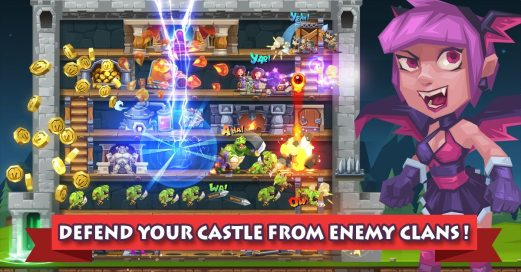 2-DEFEND YOUR CASTLE FROM ENEMY CLANS