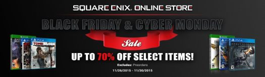 Square Enix Announces 2015 Black Friday and Cyber Monday Deals