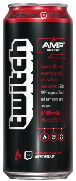 AMP Energy Twitch Cherry Blast Side Gaming Cypher