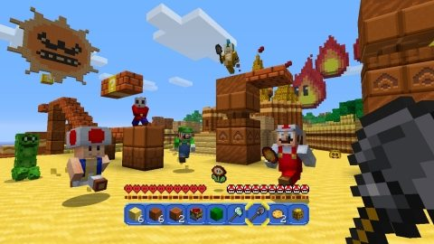 Two Beloved Video Game Franchises Collide in Super Mario Mash-Up Pack for Minecraft: Wii U Edition