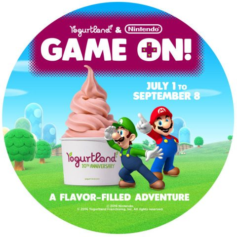 "It's ""Game On!"" with Nintendo Treats at Yogurtland Stores this Summer"