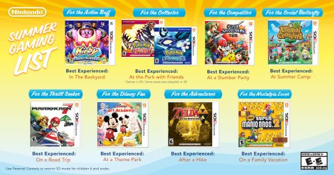 Have Fun in the Sun with Nintendo's Summer Gaming List