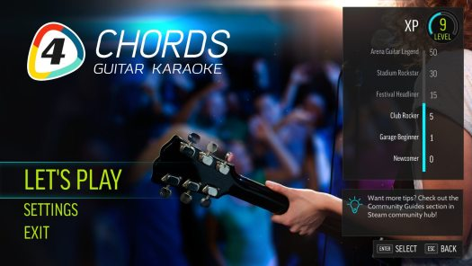 FourChords Guitar Karaoke Launching on Steam Sep. 29