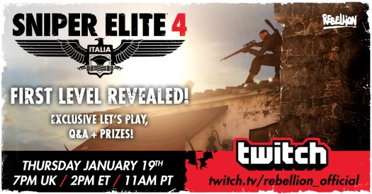 Watch the Sniper Elite 4 First Mission Live Playthrough Today