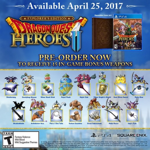 Dragon Quest Heroes II Explorer's Edition Announced, Available for Pre-Order