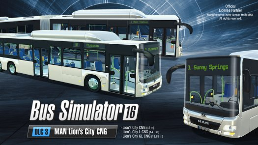 Bus Simulator 16 MAN Lion's City CNG DLC and Gold Edition Ready for Departure