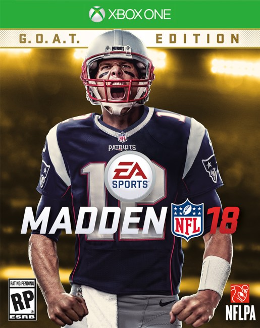EA SPORTS Madden NFL 18 Cover Athlete is Tom Brady