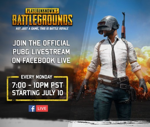 PLAYERUNKNOWN'S BATTLEGROUNDS Exclusive Weekly Livestreams Coming to Facebook Starting Today