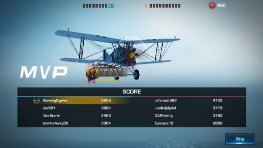 WAR WINGS Review for iPhone