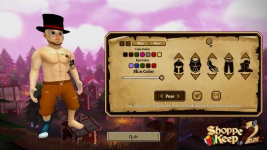 Shoppe Keep 2 Character Creator Preview Now Available on Steam