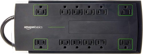 AmazonBasics 12-Outlet Power Strip Surge Protector