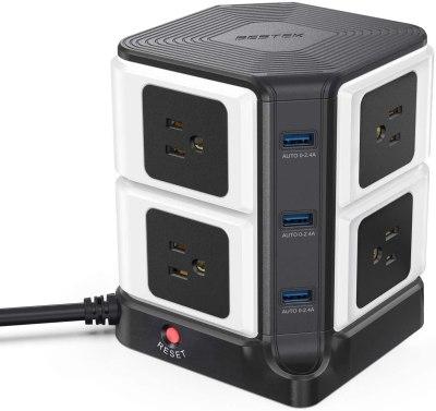 Bestek 8-Outlet USB Power Strip