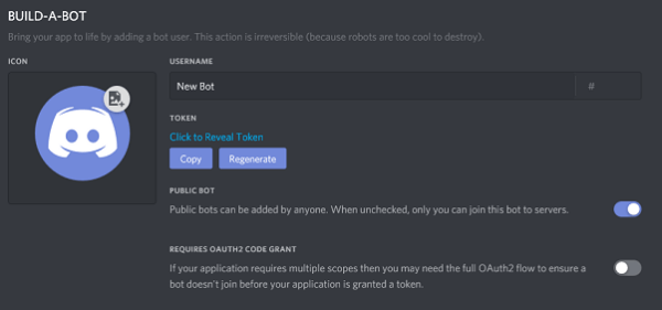 build a discord bot