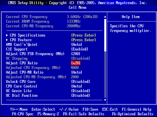CPU Overclocking with BIOS