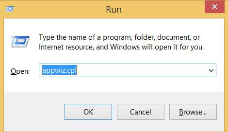 appwiz.cpl command prompt