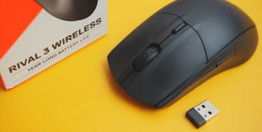 SteelSeries Rival 3 Wireless Gaming Mouse - image with box