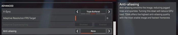 Apex Legends Anti-aliasing