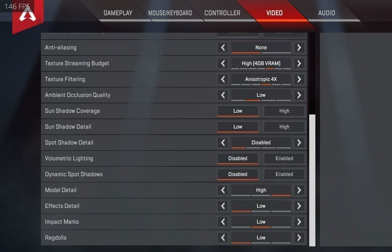 DrLupo Graphics Video Settings
