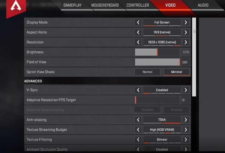 Competitive h1z1 settings