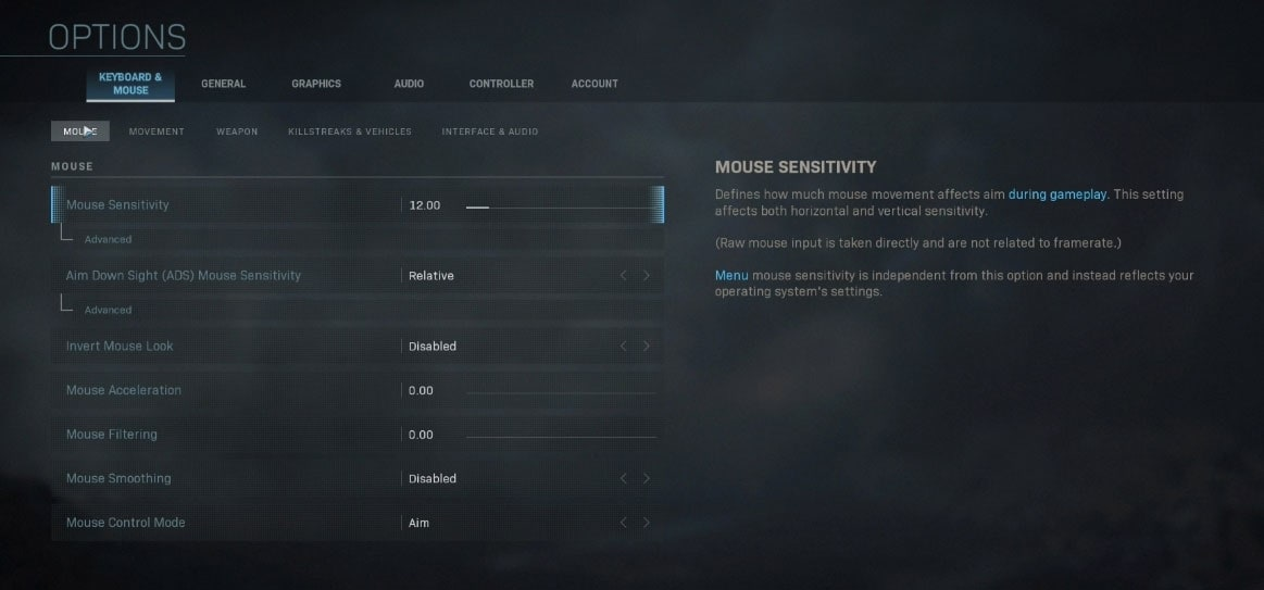 LIRIK Modern Warfare Sensitivity