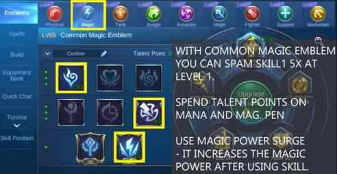 Mobile Legends Cecilion Emblem magic