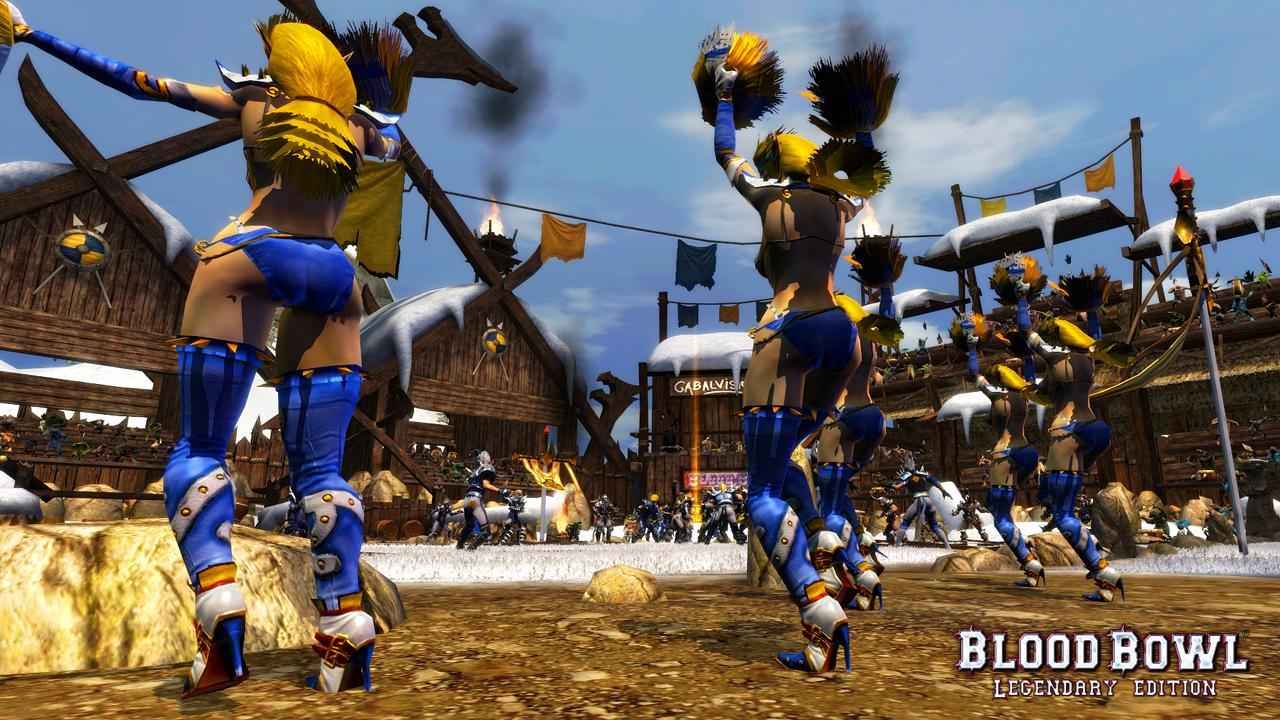 Attack of the Blood Bowl Legendary Edition cheerleaders