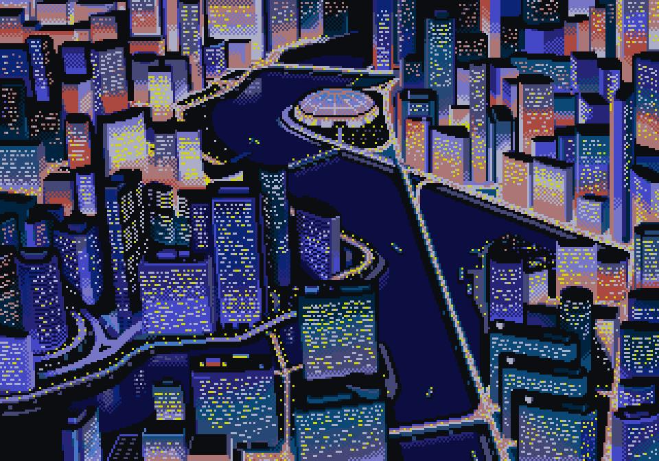 Japanese Wave Wallpaper Hd These 8 Bit Cityscapes Make Up The City Building Video
