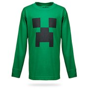 green long sleved top green minecraft creeper face on front