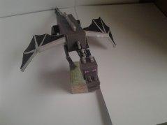 Grass block enderdragon minecraft paper craft