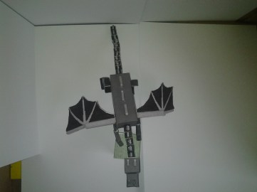 Ender Dragon Papercaft top view