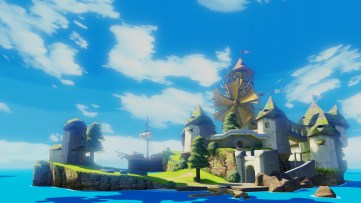 Wii U Wind Waker Screenshot - Winfall Island side