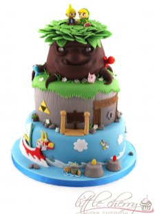 Wind Waker cake tiered