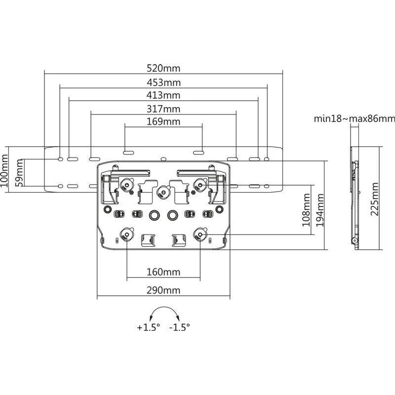 No Gap Wandhalterung für Samsung Q-Serie-11055