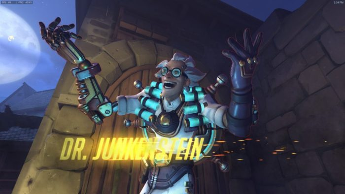 The mad Doctor Junkenstein taunts the human defenders.