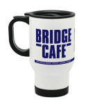 Bridge Cafe Acton London Stainless Steel Travel Mug Design Inspired By The Apprentice Uk