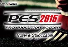 PES 2015, Trofei e Sbloccabili