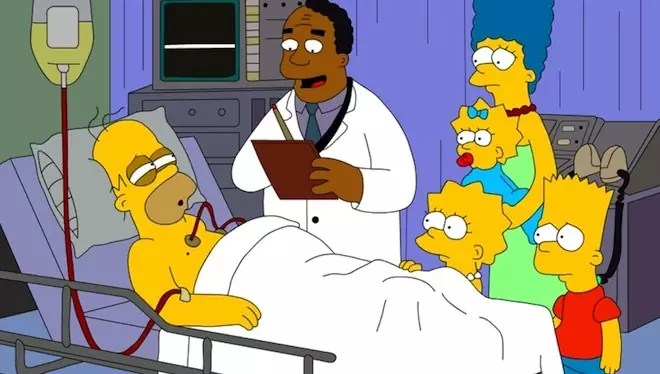 I Simpson Homer in coma