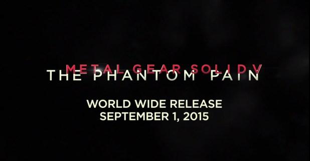 Metaol Gear Solid V Release Date