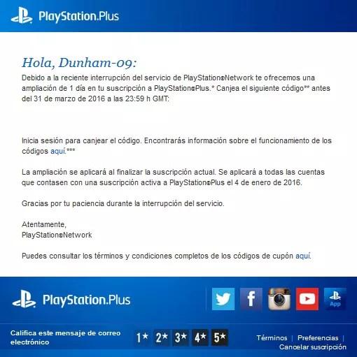 PlayStation Plus Down Reward