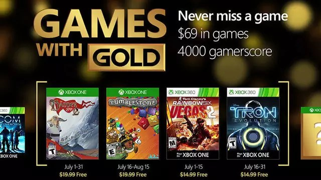 Games with Gold Luglio 2016