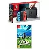 Nintendo Switch - Blu/Rosso Neon + The Legend of Zelda: Breath of the Wild