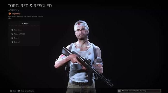 Raven offre gratuitamente a tutti i giocatori di Call of Duty: Warzone la skin di Adler torturato e salvato dopo l'evento fallito di Hunt for Adler