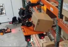 Questi robot autonomi da magazzino si arrampicano sugli scaffali e posizionano i pacchi ovunque