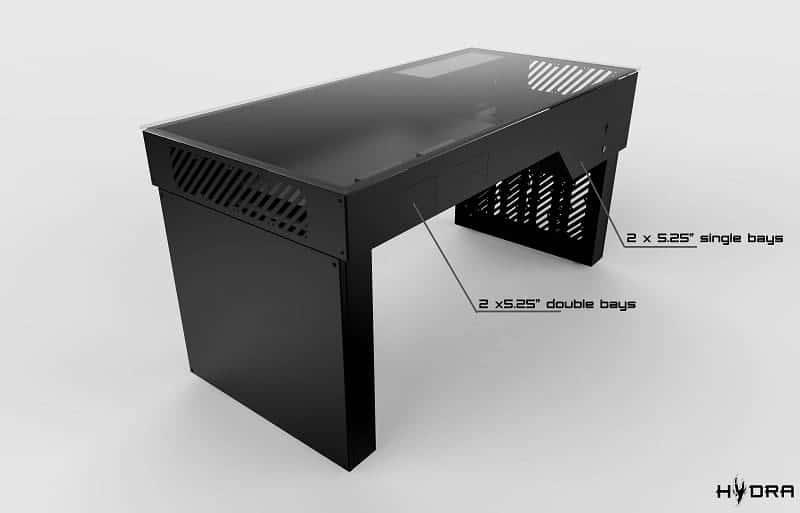 Hydra desk le bureau gamer ultime u the best of gaming