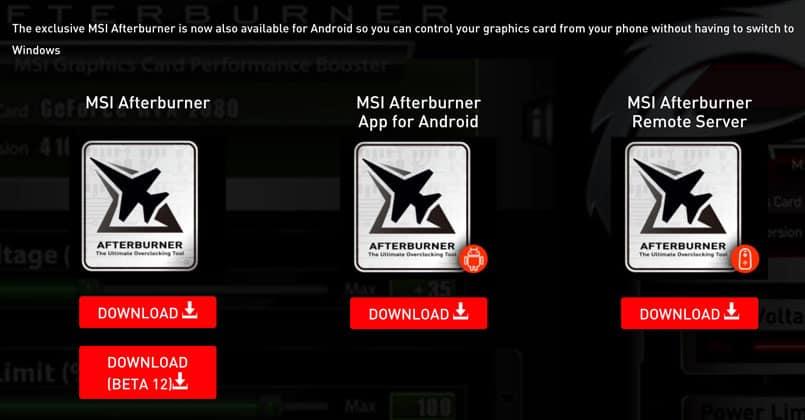 Msi Afterburner Beta 12