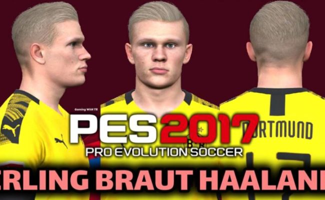 Pes 2020 Erling Braut Haaland New Face New Hair Gaming With Tr Cute766