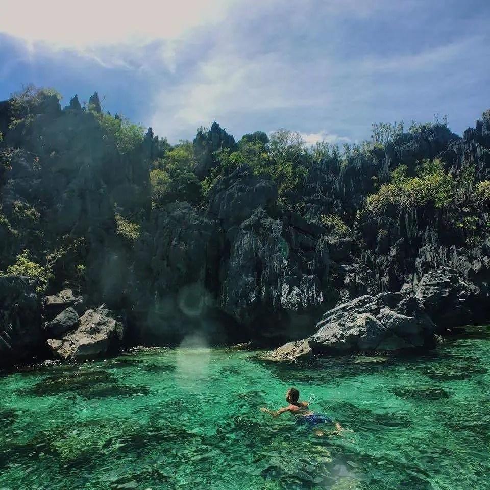 Palawan tourist spots, Small Lagoon