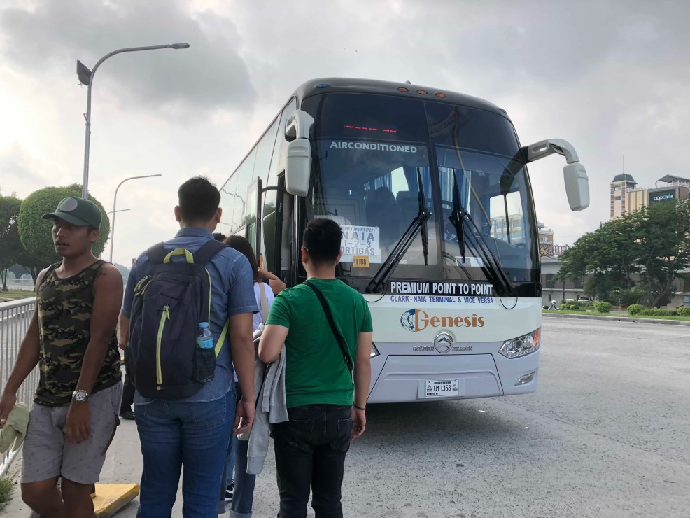 Clark to NAIA 3 and Ortigas, Point to Point Bus System from SM City Clark