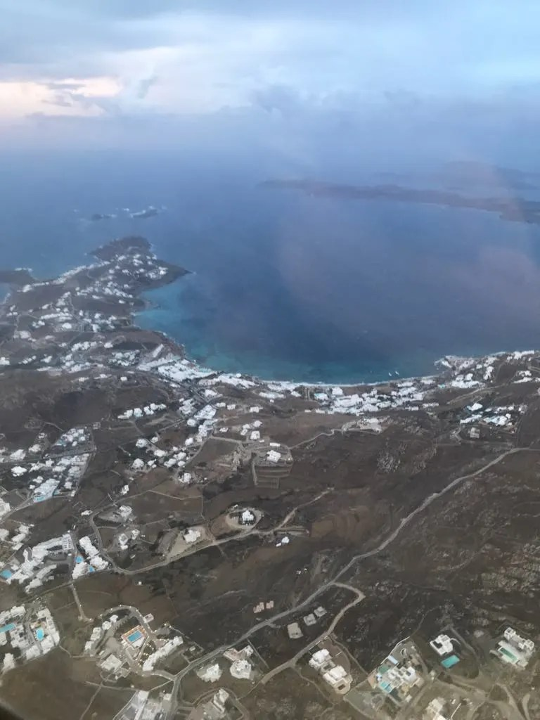 Things to do in Mykonos, Places to visit in Mykonos, Food to try in Mykonos, Mykonos from the airplane